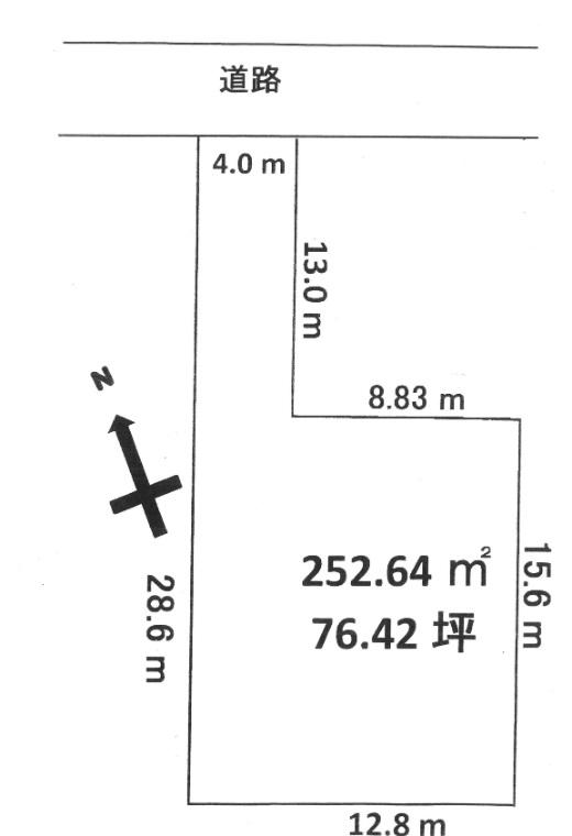 土地ゆったり 4mの敷地延長