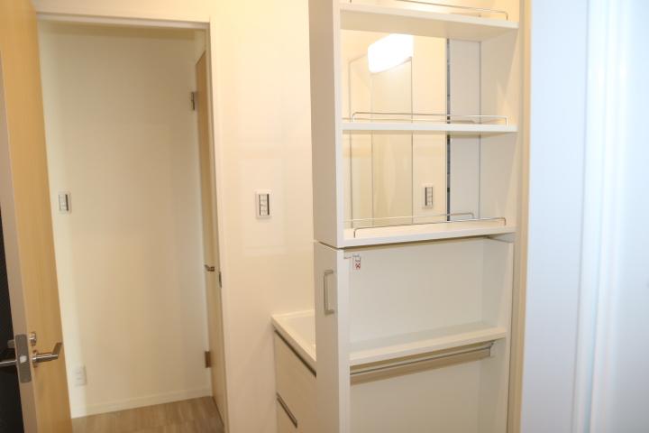 タカラの洗面台 引き出しタイプの収納スペースもあります。